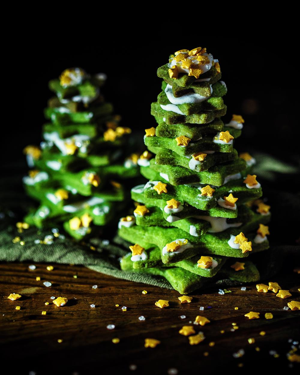 Winterwunder Wald – Tannenbäume aus Keksen (vegan)