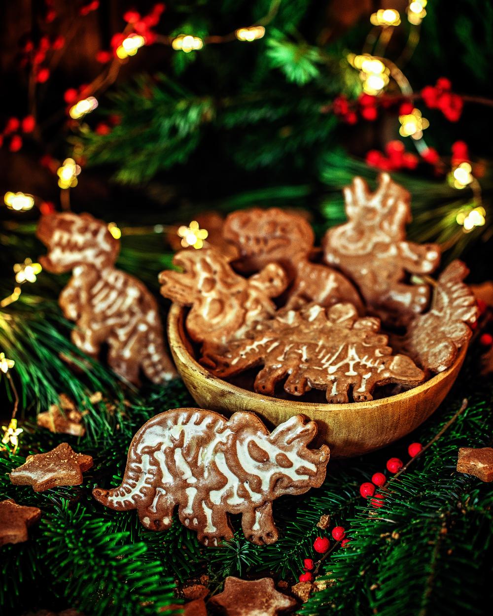 Lebkuchen Dinosaurier – schnelles Weihnachtskeks Rezept für kleine Archäologen