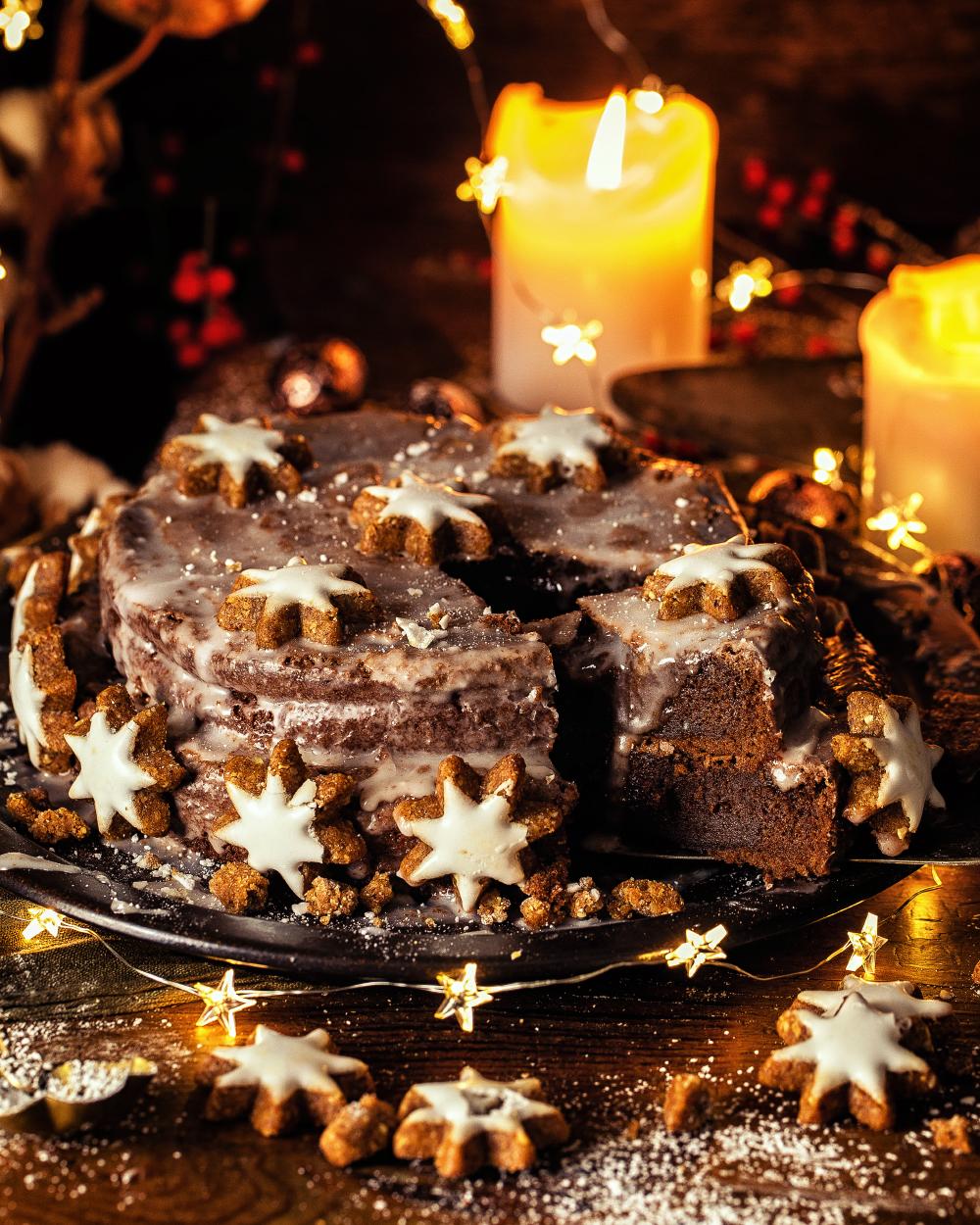 Zimtstern-Torte – besonders saftig mit viel Schokolade