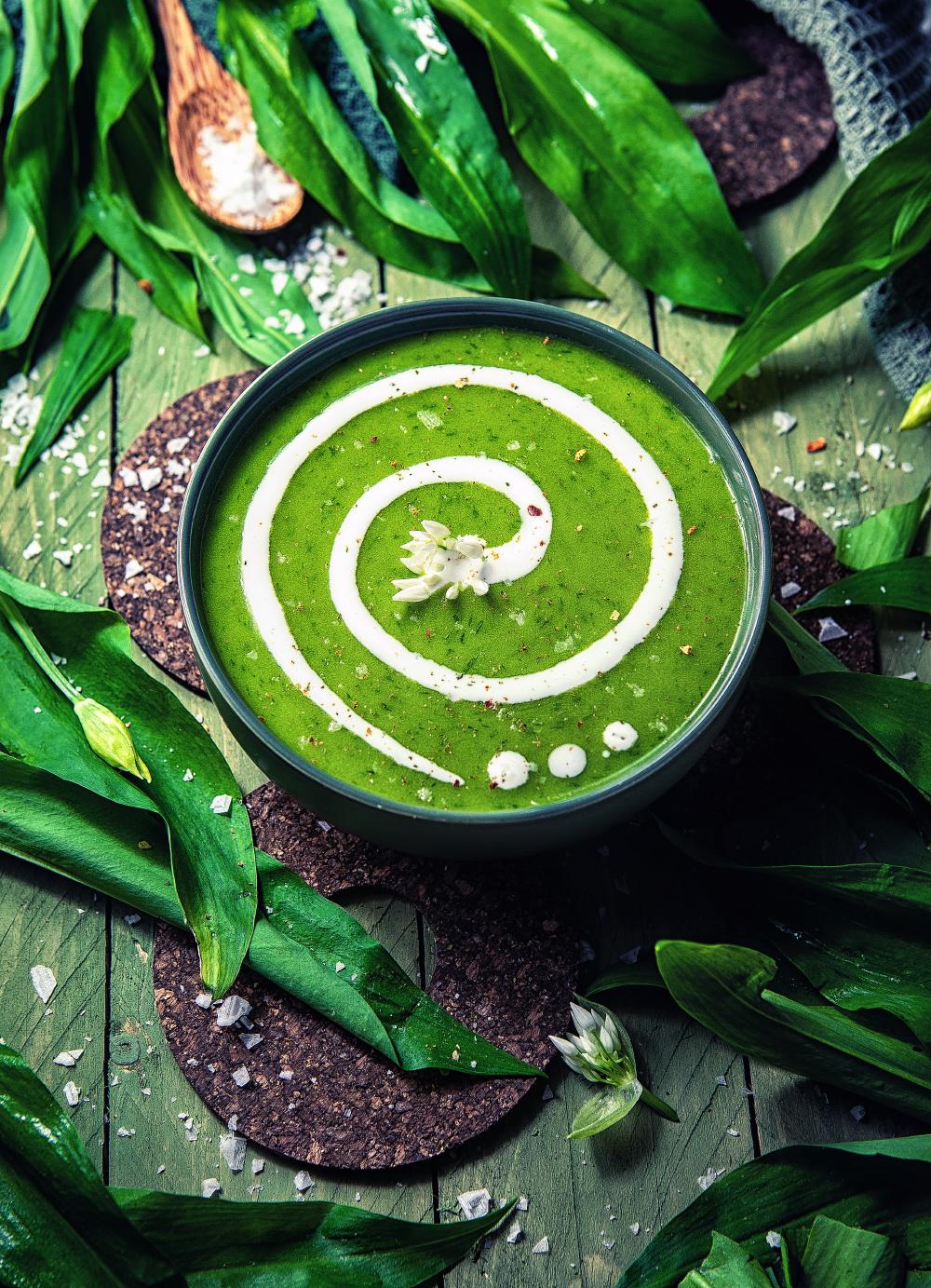 Bärlauch-Kartoffel Suppe (vegan)
