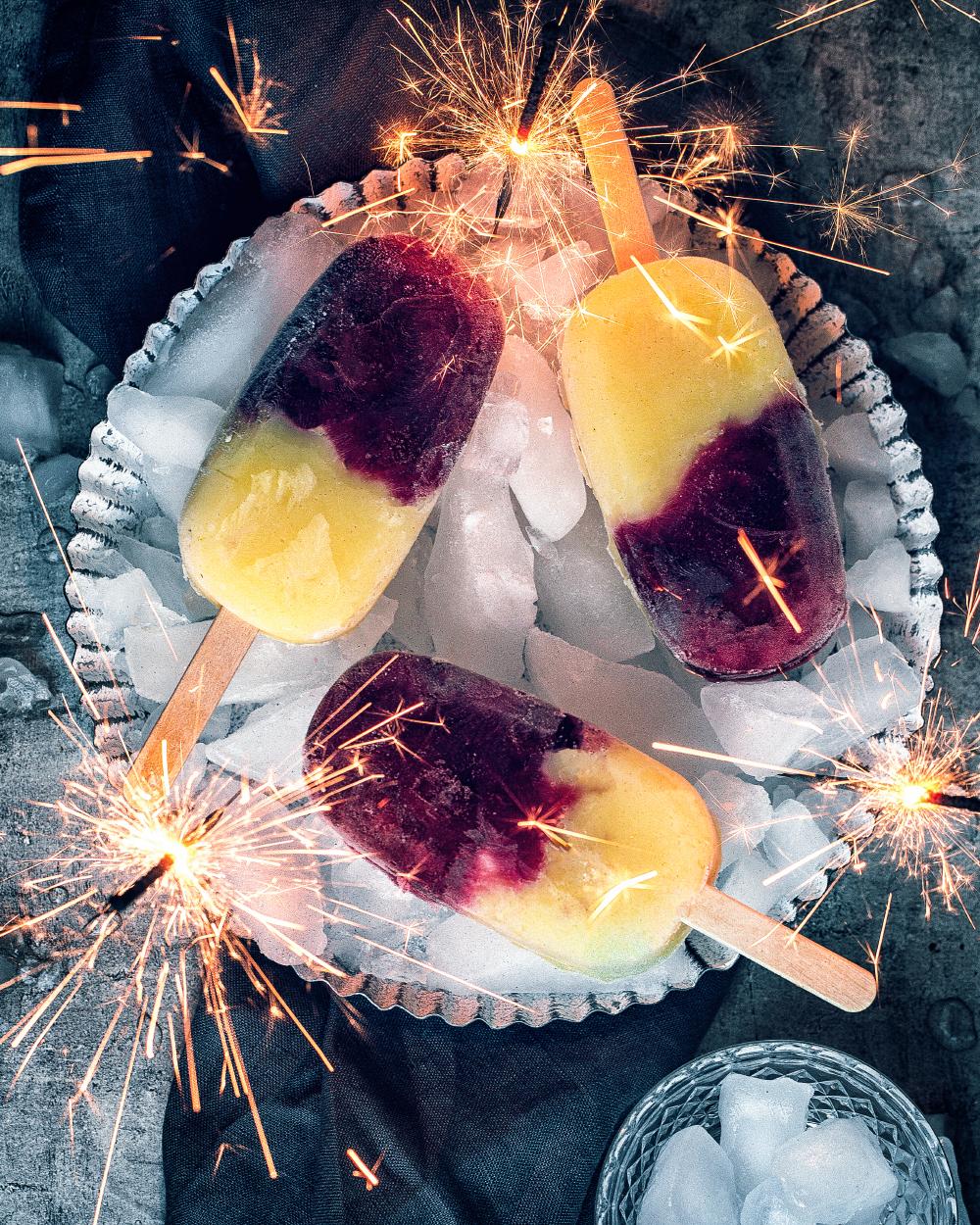 Pudding Icepops aus Dessert-Resten