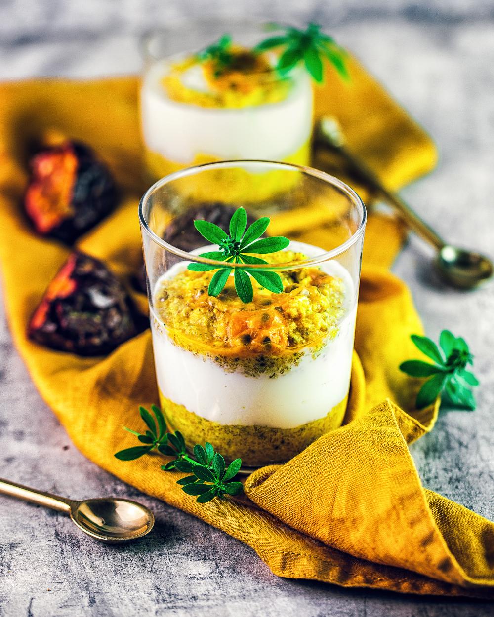 Mango Jogurt Frühstück