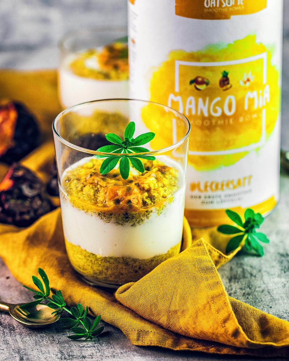 Mango-Jogurt-Frühstück im Glas