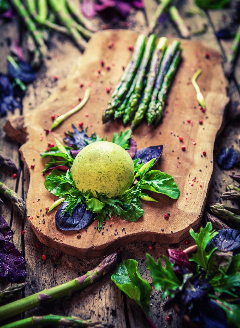 Bärlauch Mousse einfaches Rezept mit frischem Spargel