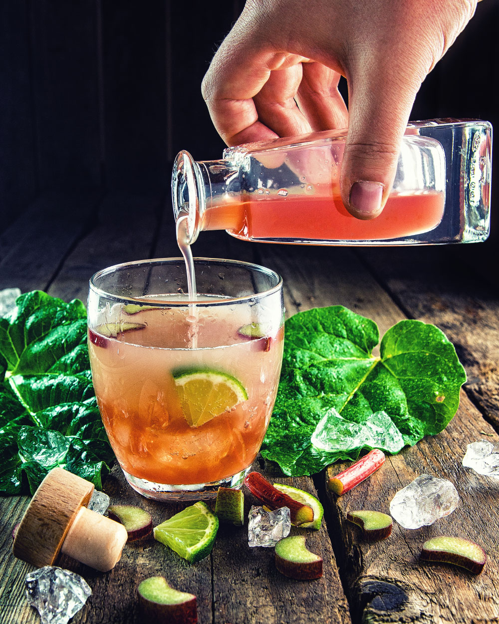 Rhabarber Sirup einfaches Rezept auch zuckerfrei