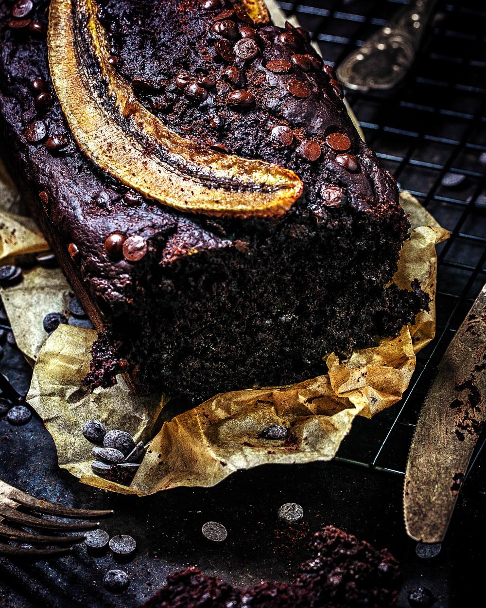 Schokoladen Bananenbrot veganes und einfaches Rezept