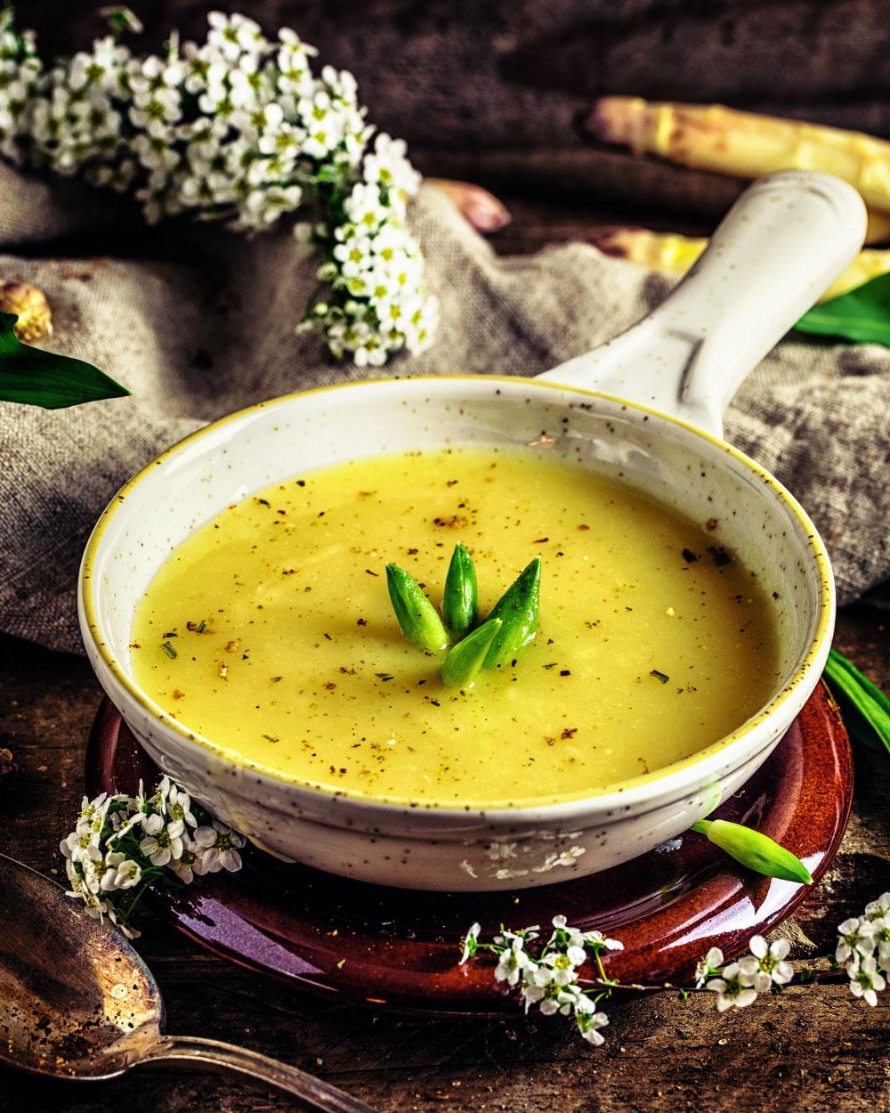 Kartoffel Spargel Suppe einfaches Rezept