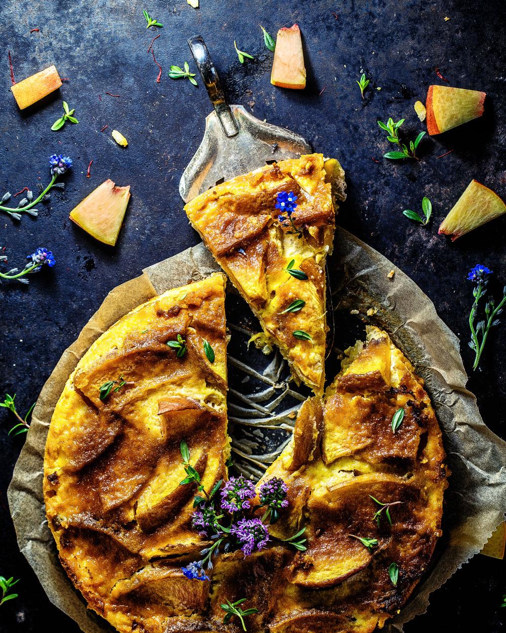 Nektarinen Reiskuchen mit Safran einfaches Rezept