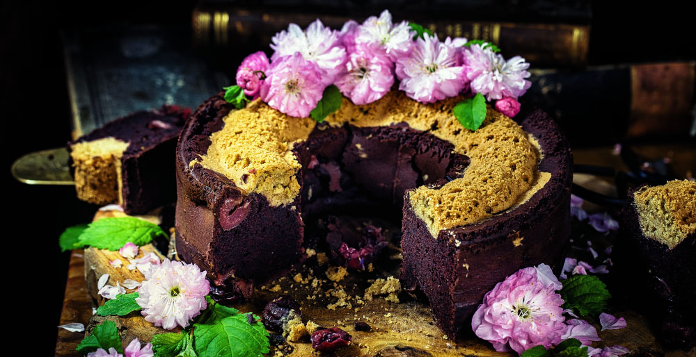 Schokoladen Kirsch Kuchen ohne Ei vegan einfaches Rezept