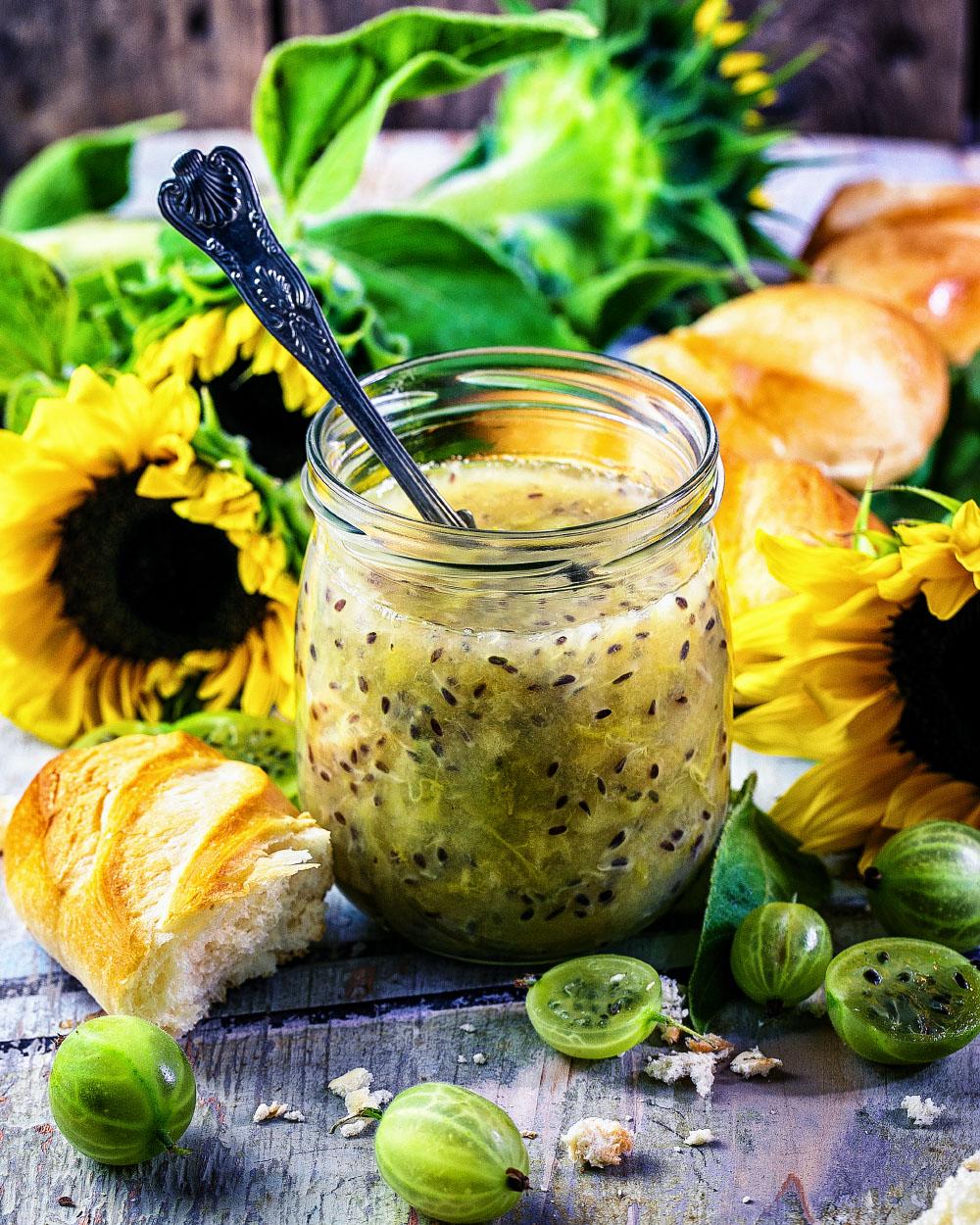 Grüne Stachelbeer-Marmelade - einfaches Rezept für köstliche Marmelade