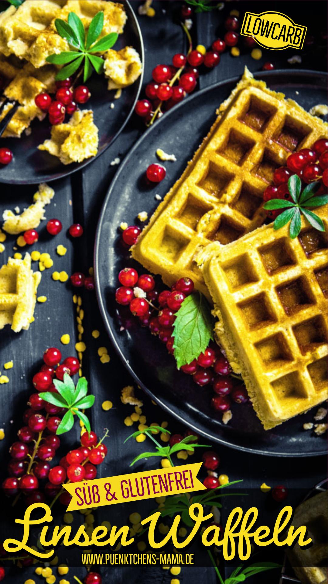 Gelbe-Linsen-Waffeln Lowcarb gluteinfrei einfaches rezept