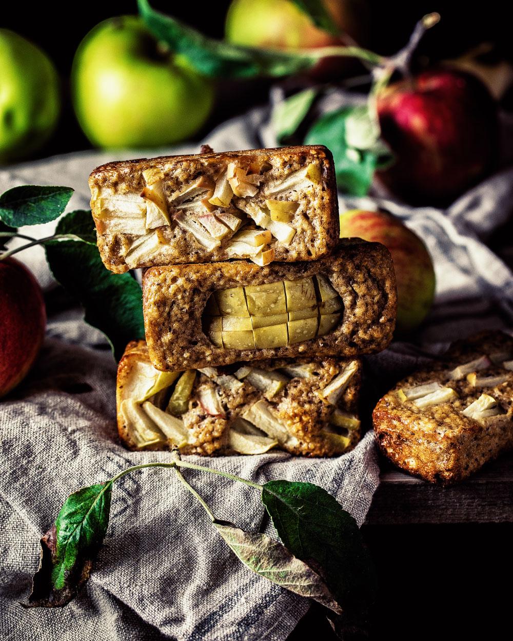 Mini-Apfelkuchen einfaches Rezept kalorienarm backen mit tefal cake factory