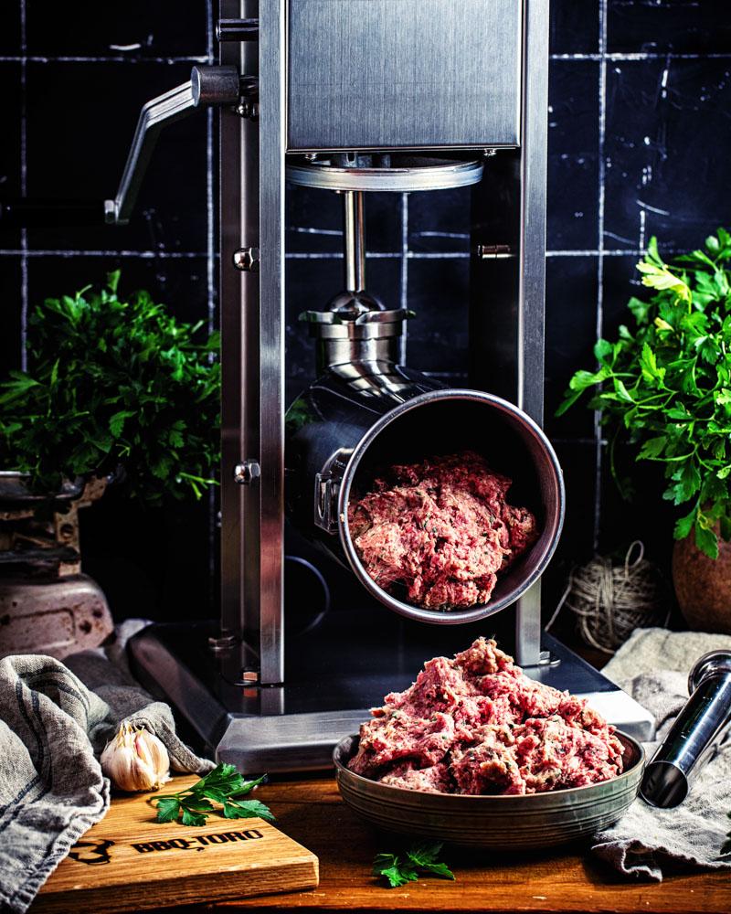 Knoblauchwuerstchen selber machen einfaches Rezept mir BBQ Toro von Heike Herden