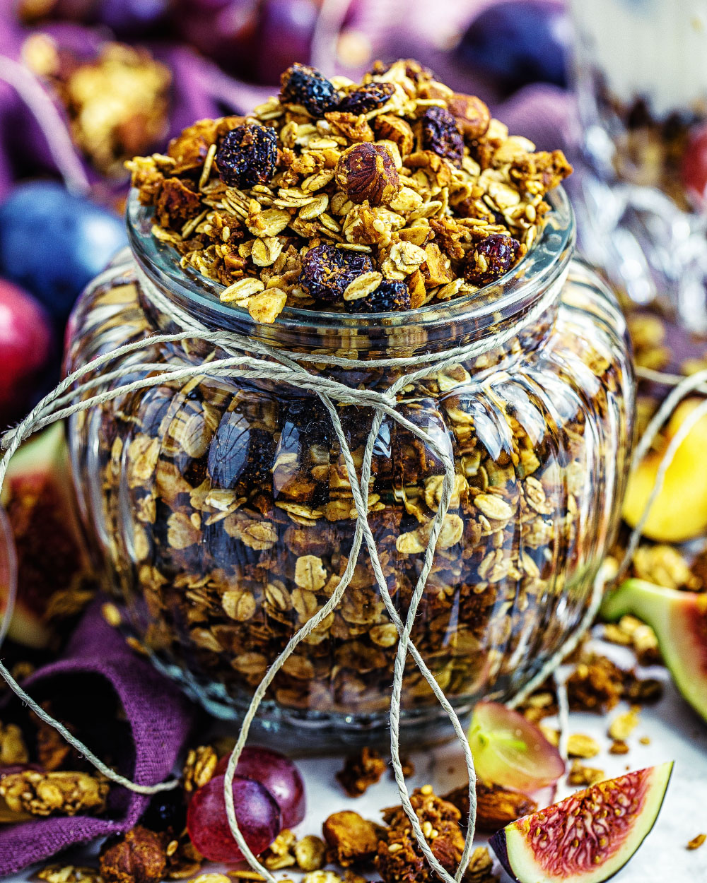 Selbstgemachtes Granola einfaches Rezept Fitfood