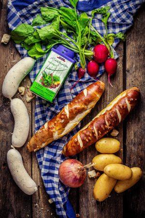 Weißwurst-Salat einfaches Bofrost Oktoberfest Rezept von Heike Herden