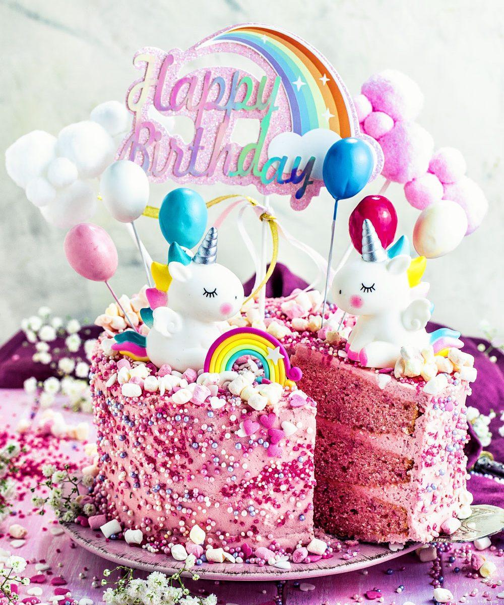 Einhorn Torte Einfaches Rezept Fur Madchen Geburtstagstorte Rosa Pink