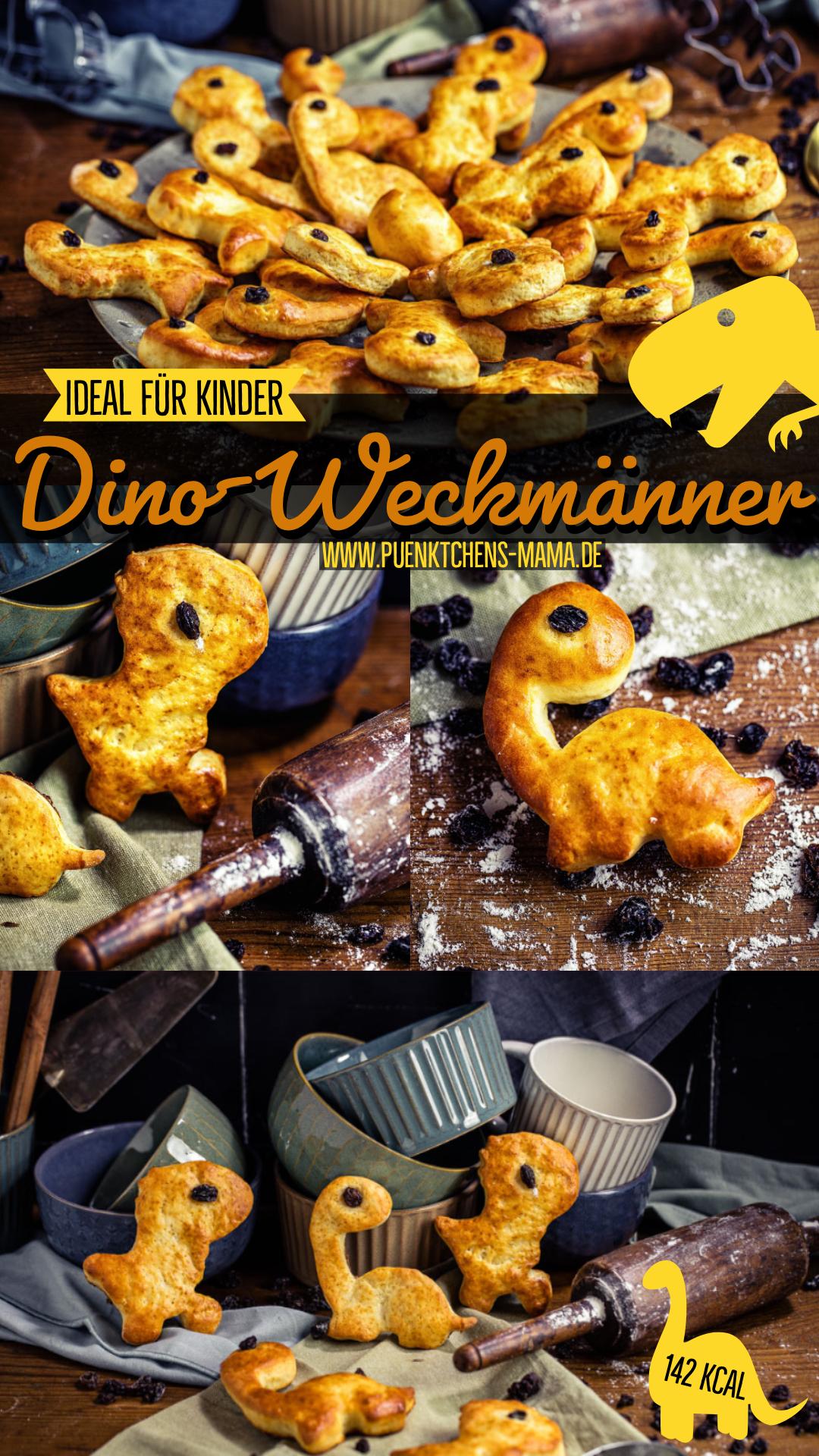 Dinosauerier Weckmaenner einfaches mitbringsel kindergeburtstag schule kindergarten rezept