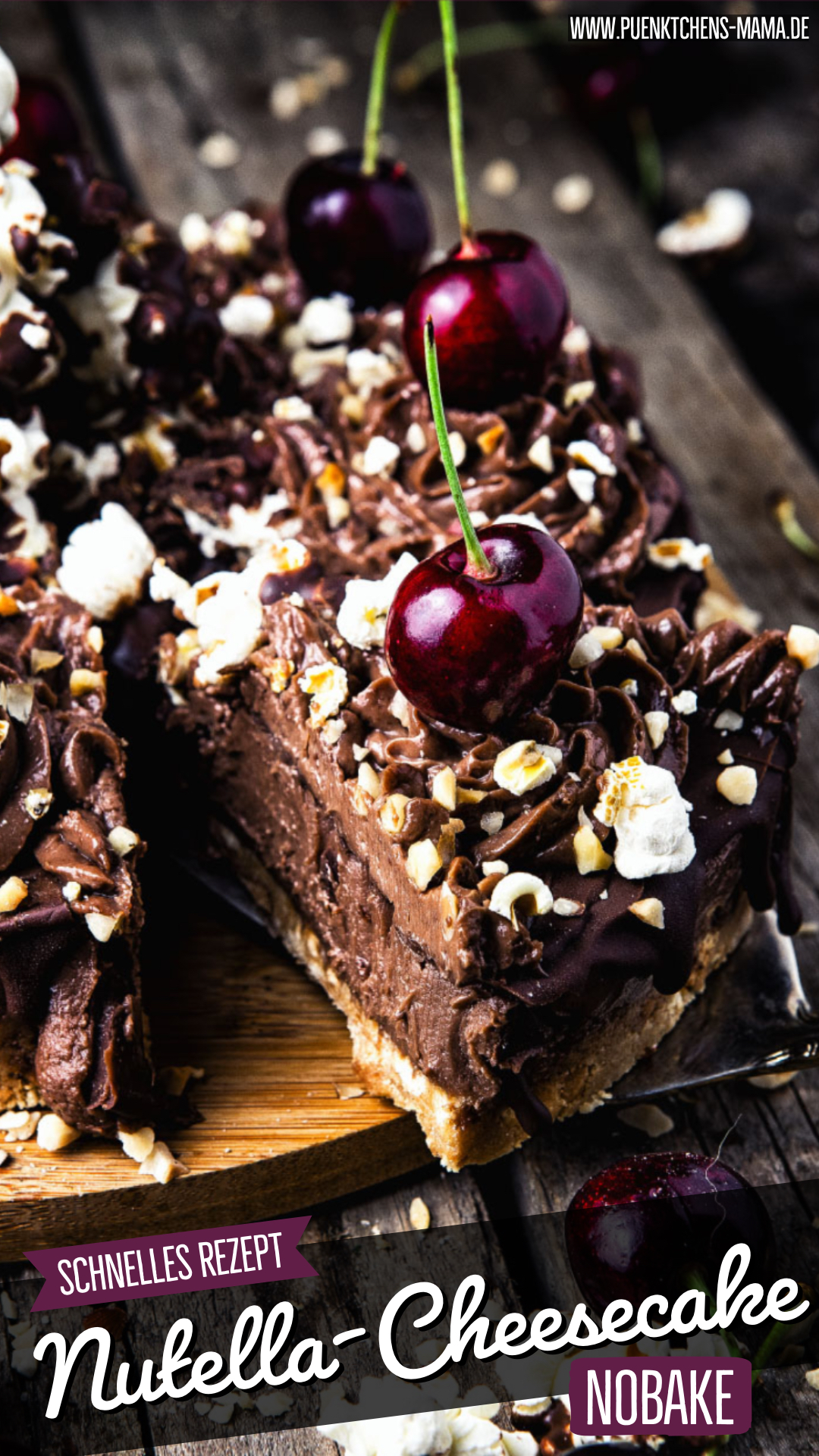 Nutella NoBake Cheesecake einfaches Rezept