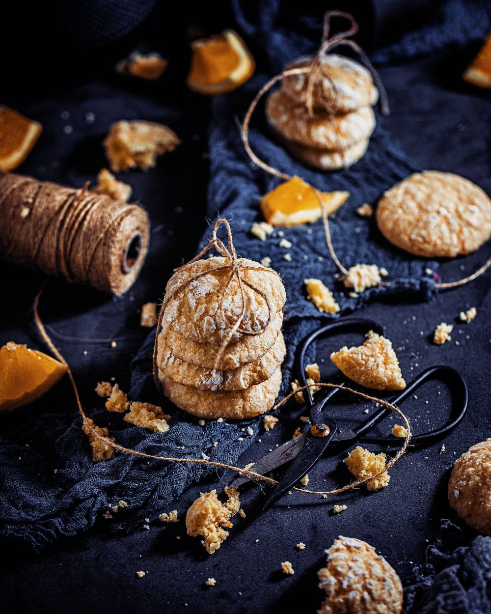 Orangen-Mandel-Kekse einfaches Rezept für Soft-Gebäck mit Orangenlikör