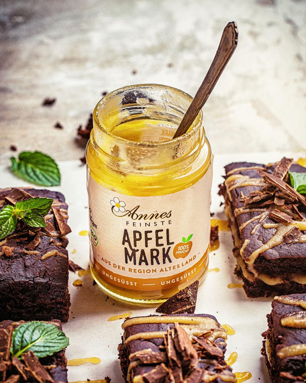 Schlanke Brownies -kalorienreduziert Maintal Apfelmark einfaches Rezept