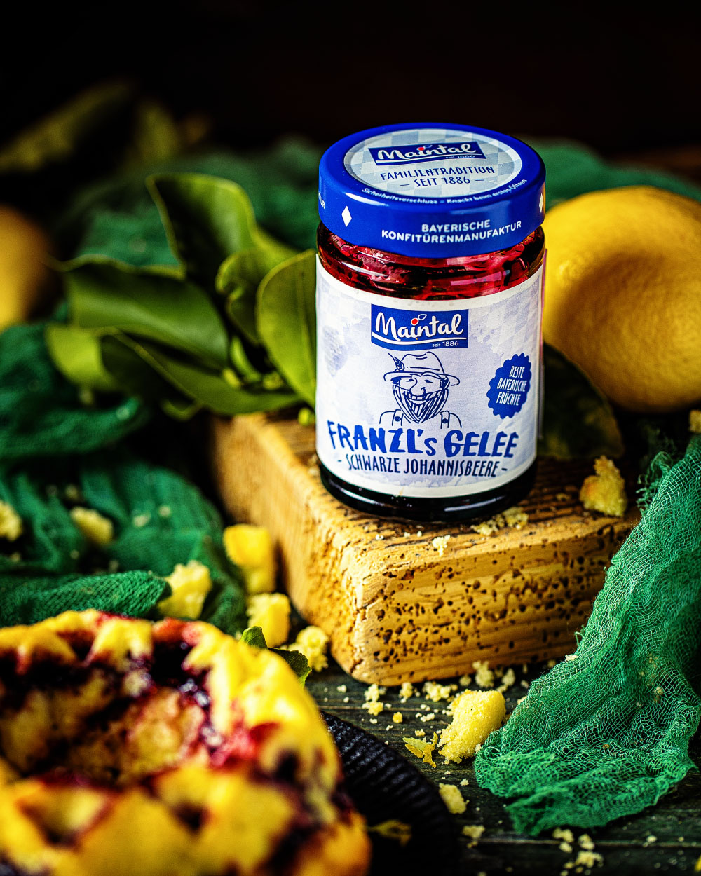 Zitronen-Johannisbeer-Gugelhupf einfaches Rezept backen mit marmelade geele Maintal
