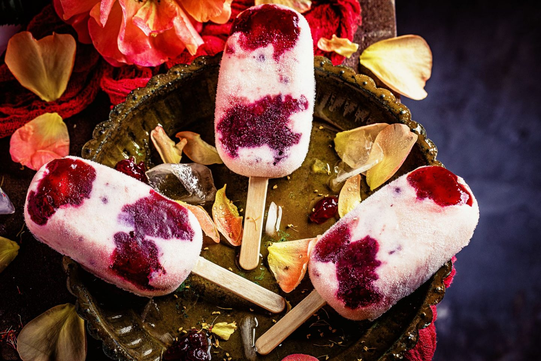 Preiselbeer-Jogurt-Eis einfaches Rezept ohne Eismaschine maintal