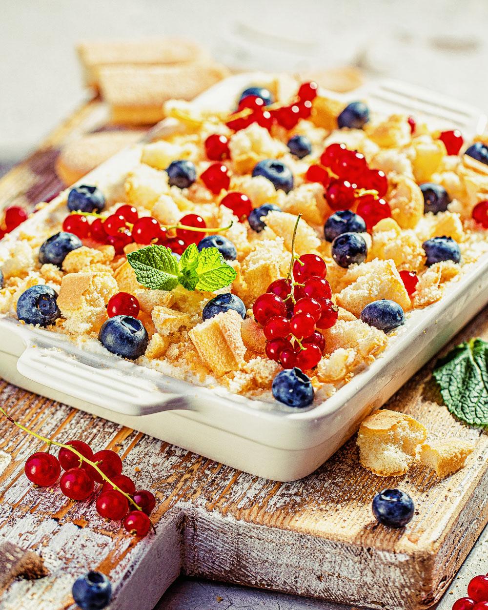 Beeren-Protein-Tiramisu einfaches rezept highprotein dessert more nutrition fitfood