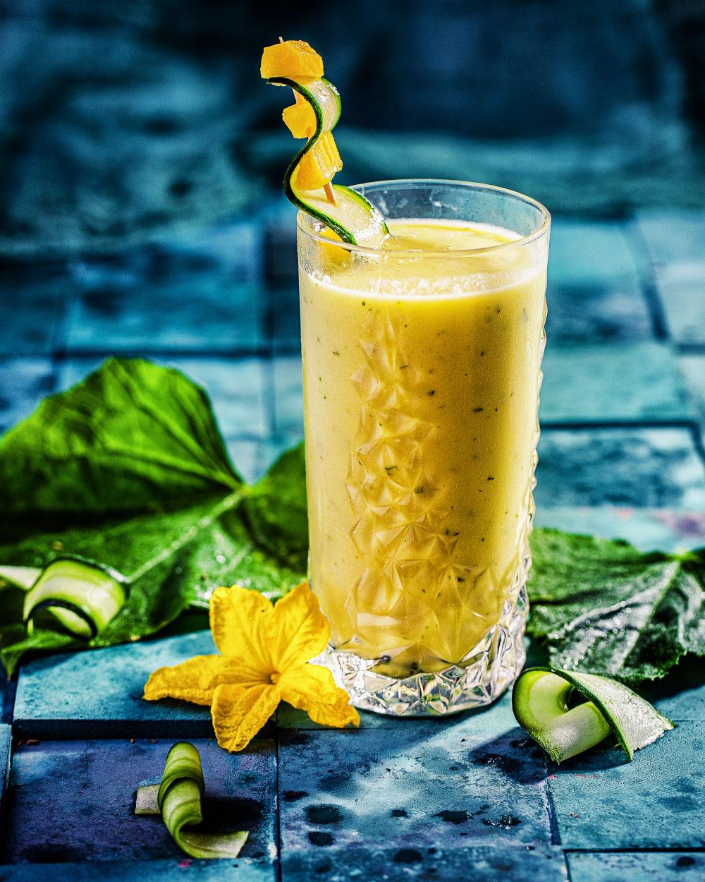 Mango-Gurken Lassi einfaches Rezept kalorienarm entwässernt