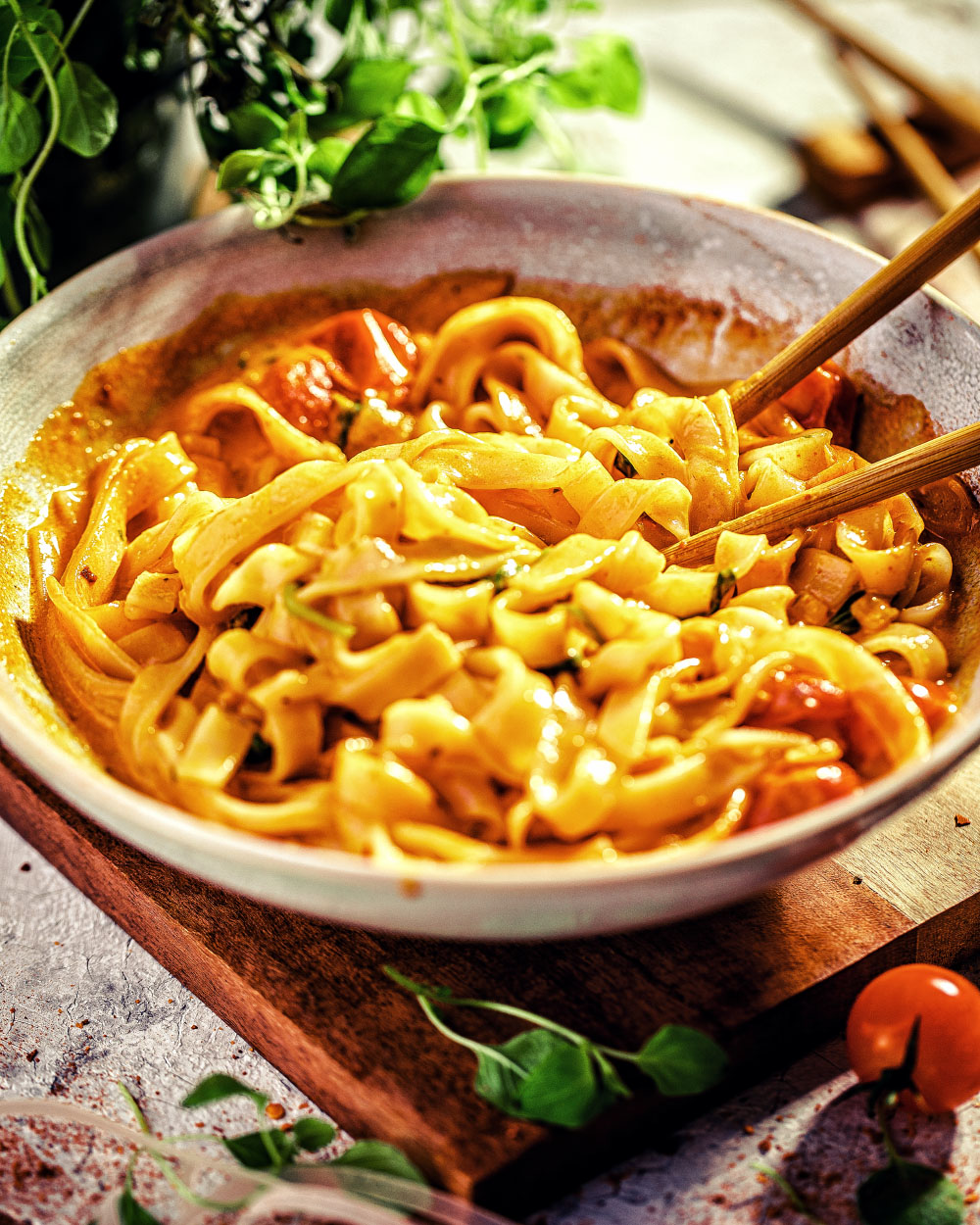 Cremige Thai-Nudeln - nudeln reishunger currySchnelle Thai Creme-nudeln reishunger curry