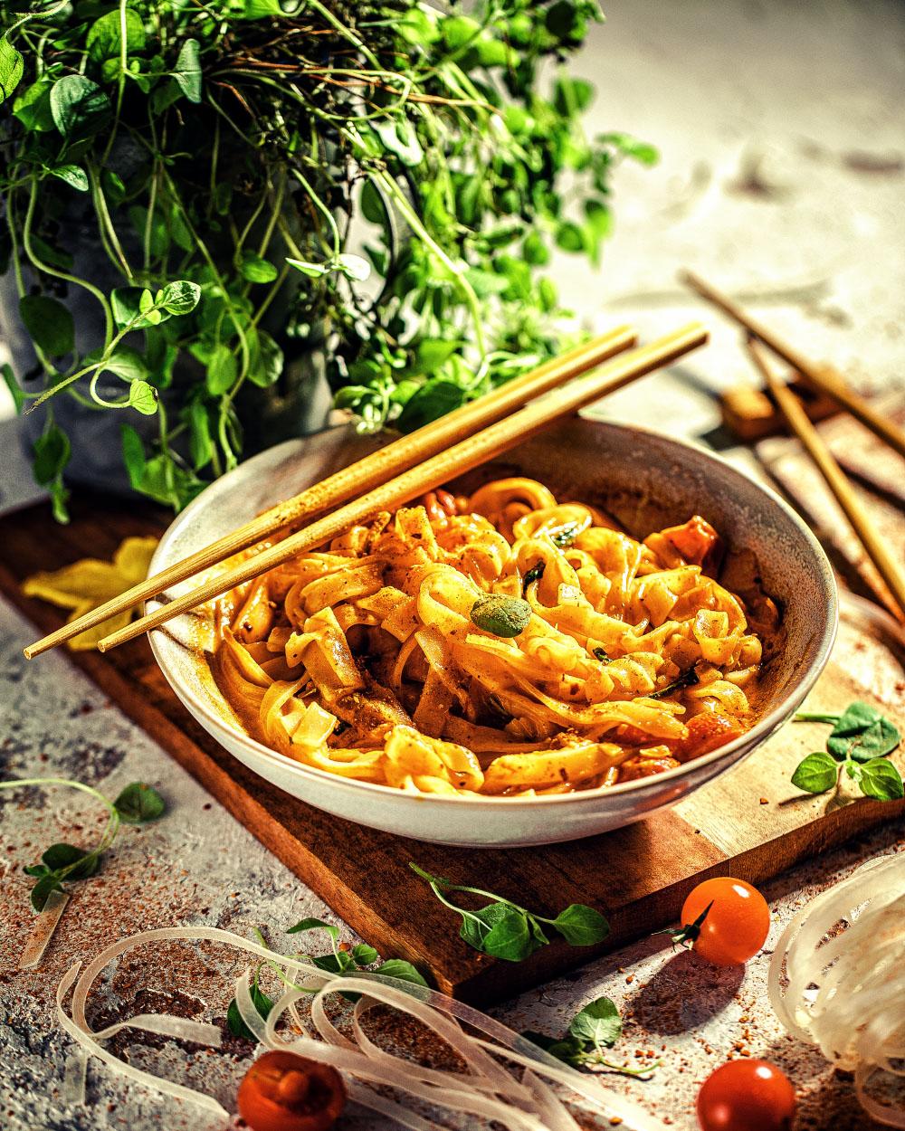SCremige Thai-Nudeln - nudeln reishunger currychnelle Thai Creme-nudeln reishunger curry