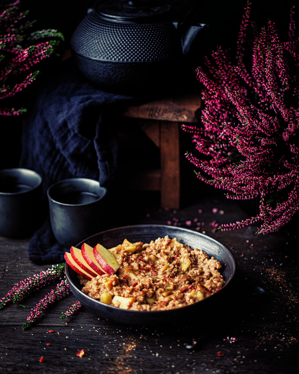 Apfel-Zimt porridge einfaches rezept vegan gesund frühstücken