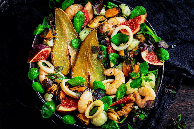 Herbstlicher Frutti di mare salat einfaches rezept escal heike herden