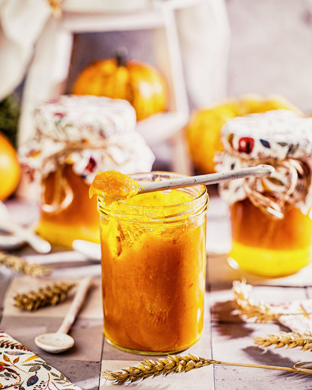 Kürbis Marmelade selber machen einfaches rezept