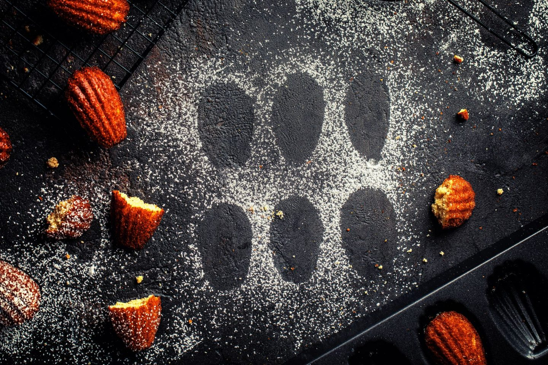 Madeleines einfaches französisches Rezept kalorienreduziert backen weihnachten