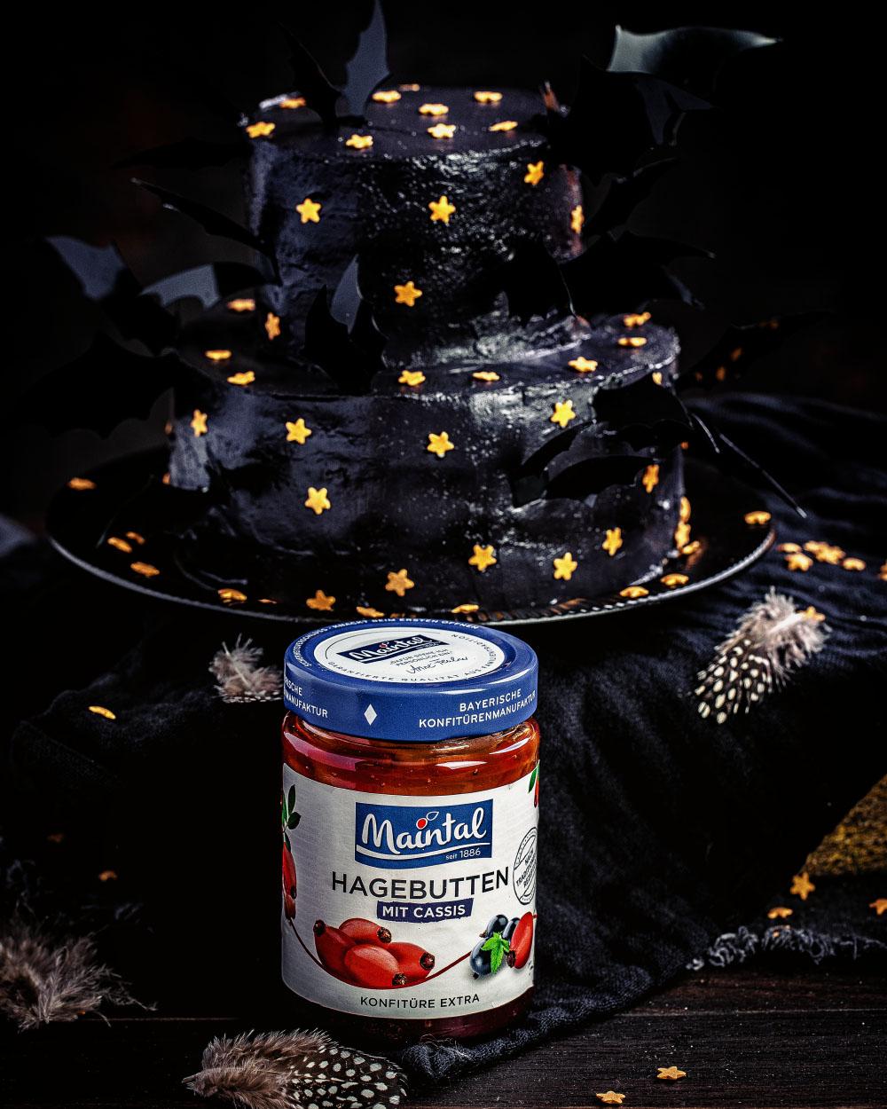 einfache halloween torte selber machen maintal ohne backen schwarze fledermaus torte