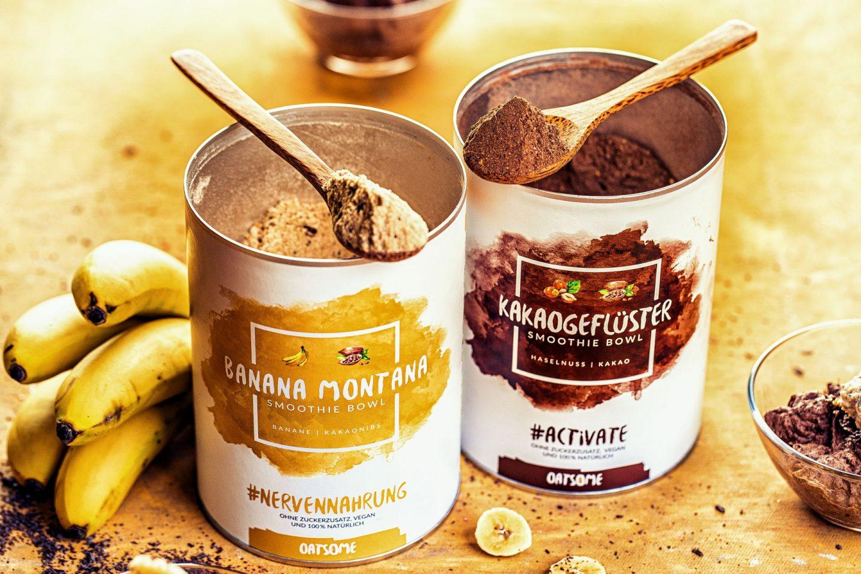 Oatsome Bananen-Schoko-Dessert mit Banana Montana Kakaogefluester heike herden einfaches rezept rabattcode vegan