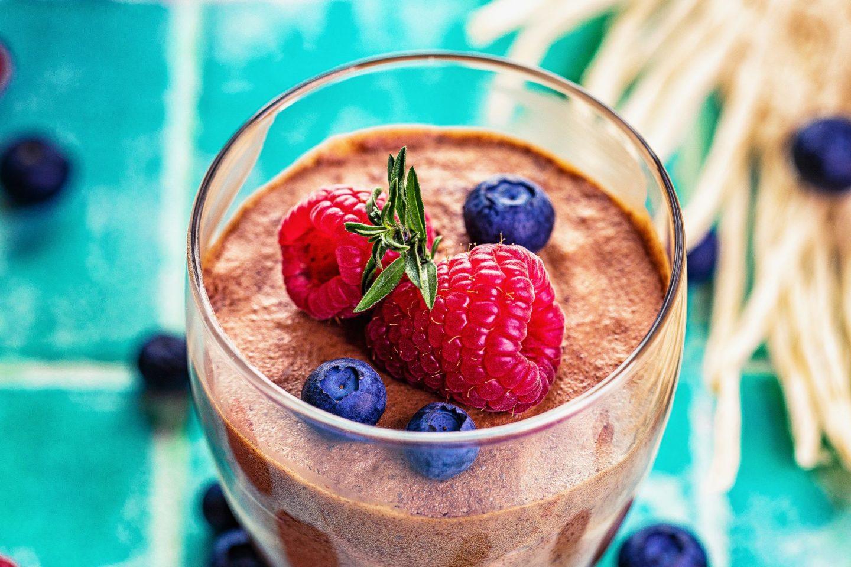 Veganes Schoko-Mousse Schokladenmousse mousse au Chocolat einfaches rezept aquafaba fitfood gesund