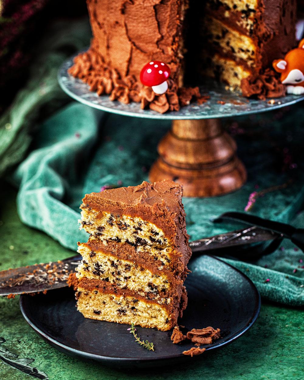 Einfache Waldtier-Geburtstagstorte für Kinder Geburtstagskuchen Schokoladentorte einfaches Rezept mit Backmischung Heike Herden