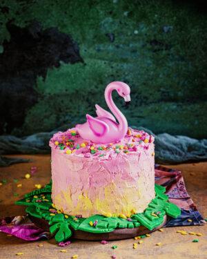 Einfache tropische Flamingo-Torte backmischung geburtstagstorte für mä dchen frauen heike herden