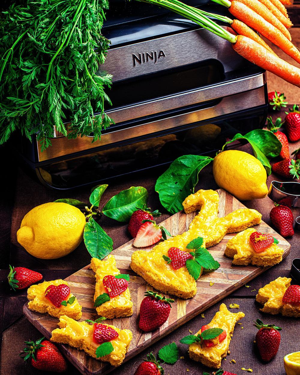 Möhren-Zitronen Häschen - gebacken in Heissluft Fritteuse - Ninja Foodi Max