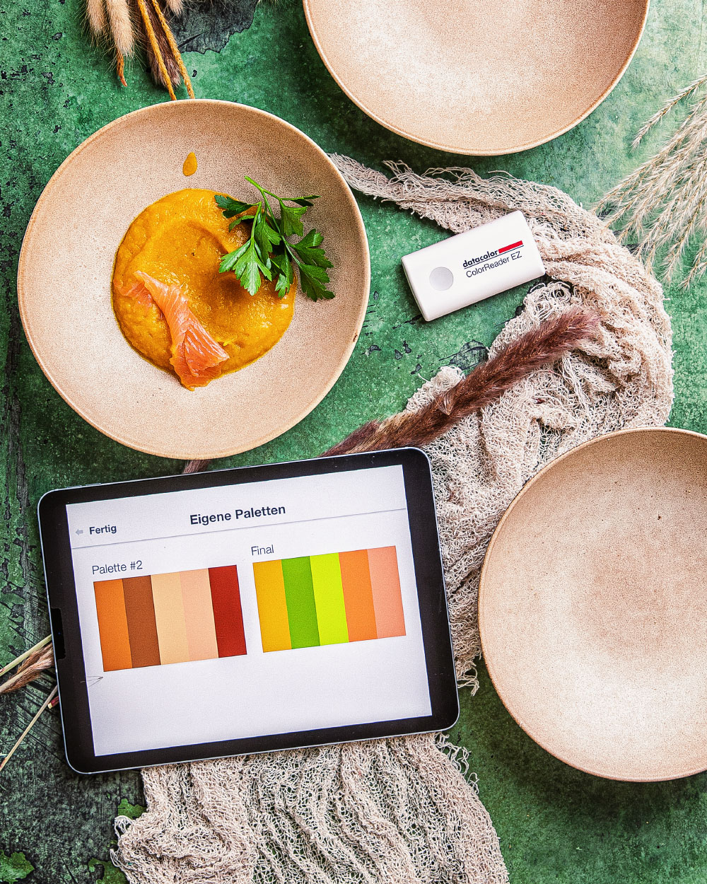 ColorReader EZ Datacolor Kreative Anwedung Foodfotografie Heike Herden Kürbis Suppe Rezept
